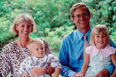 1990-08 Katie & Jad Roberts & kids
