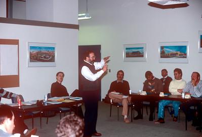 1989-02 John Presenting Seminar at Cost Plus
