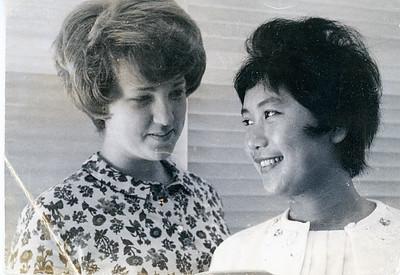 1964 Sue Ricca & Wilai (Thai AFS Student)