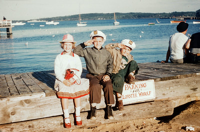 1955 John, Sue & Greg in Maine