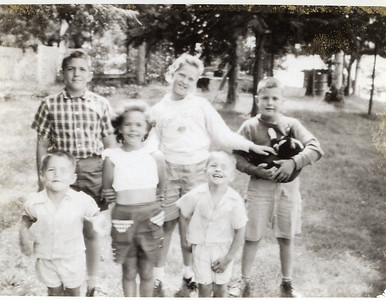1957 John, Sue, Greg, Peggy, Buck & Chuck