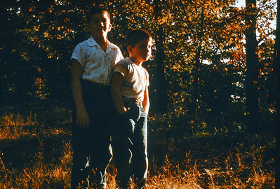 1955 John & Greg in Maine