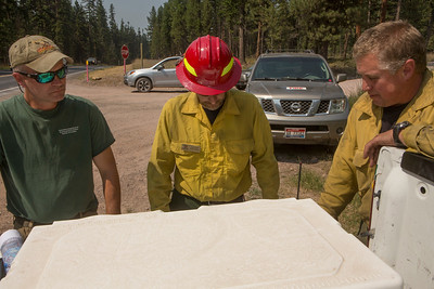 Lolo National Forest Fires, 2017, Montana: Rice Ridge