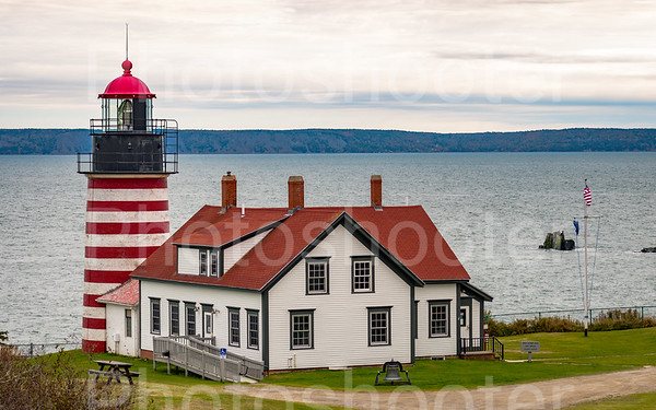 Lighthouse at Lubec, Maine