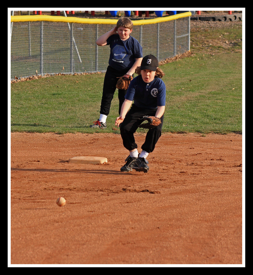 Russell playing third base - looks like he may land there as the starting third baseman!