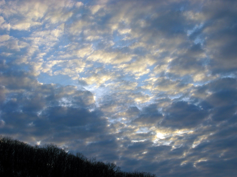 Clouds over Nesquehoning, PA