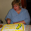 Patti Cutting Cake
