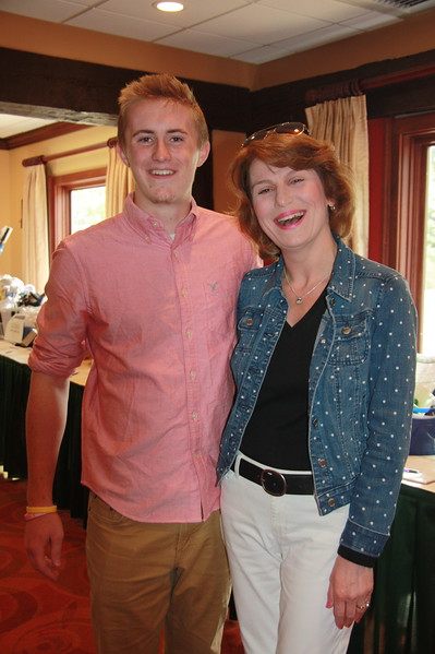 Migli Scholarship winner Jack Jones meets Amy Migli Matsikas