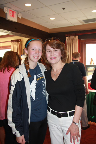Migli Scholarship winner Laurent Jeandell meets Amy Migli Matsikas