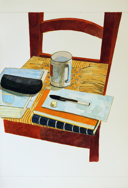 Chair with cup of Tea