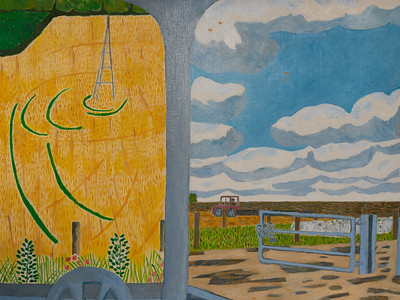 Autumn - Two Wheat Fields -  Richard Pelham Landscapes