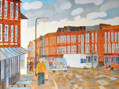 Newbury Scapes - View North on Northbrook Street- by Richard Pelham