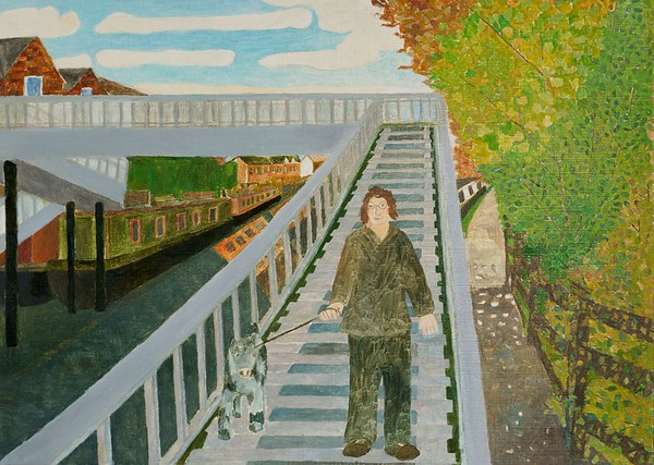 Newbury Scapes - Crossing the Canal at Greenham Mill