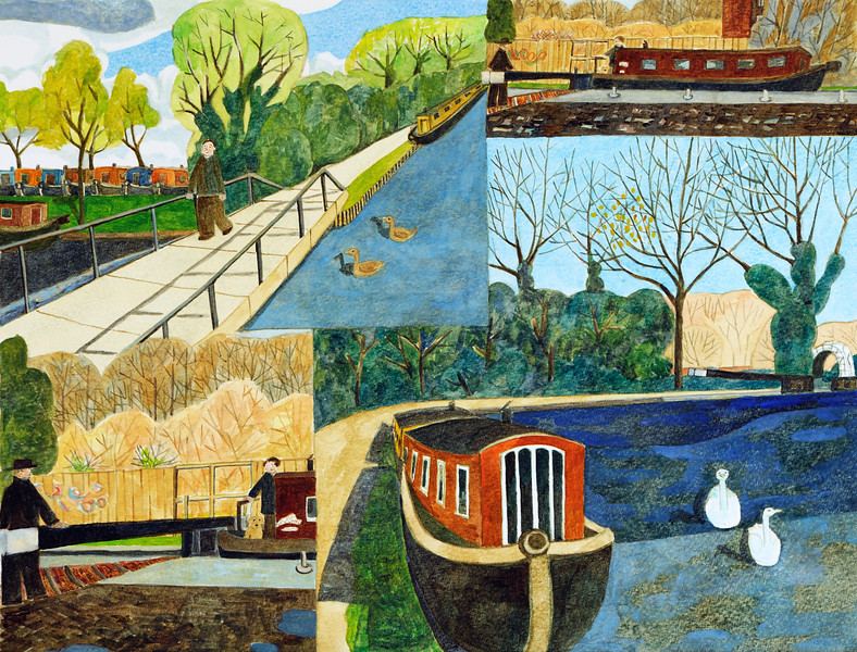 Canal Boats in Newbury