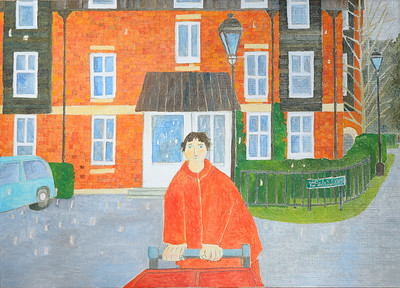 Newbury Scapes - Postman at Greenham Mill
