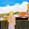 Newbury People - Woman at Petrol Station