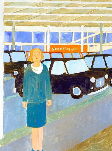 Newbury People - Woman at Sainsburys