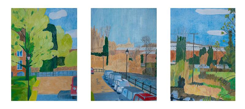 Triptych - Newbury by the Kennet
