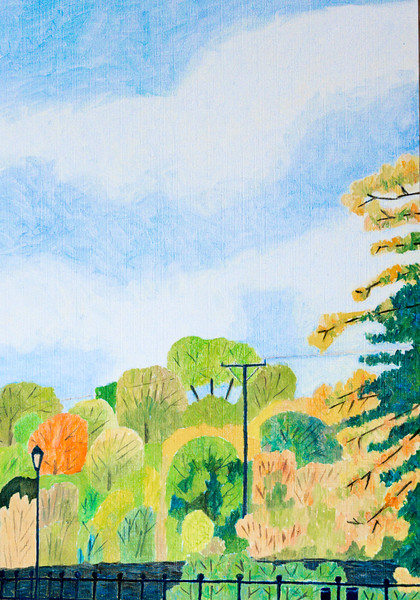 Richard Pelham Newbury Scapes - Kennet Mill Race - Autumn