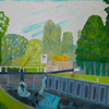 Lock on the Kennet River Canal Looking West - Uncertainty - Richard Pelham