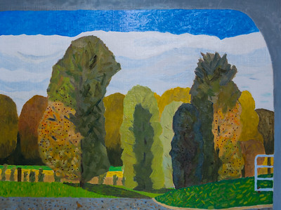 View from Car Window looking South - Uncertainty - Richard Pelham