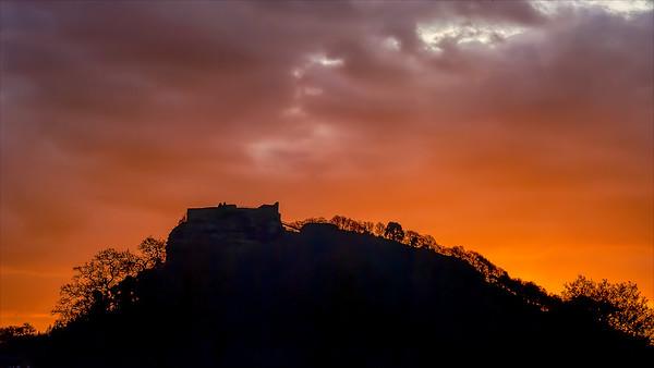 Sunrise on Beeston Castle
