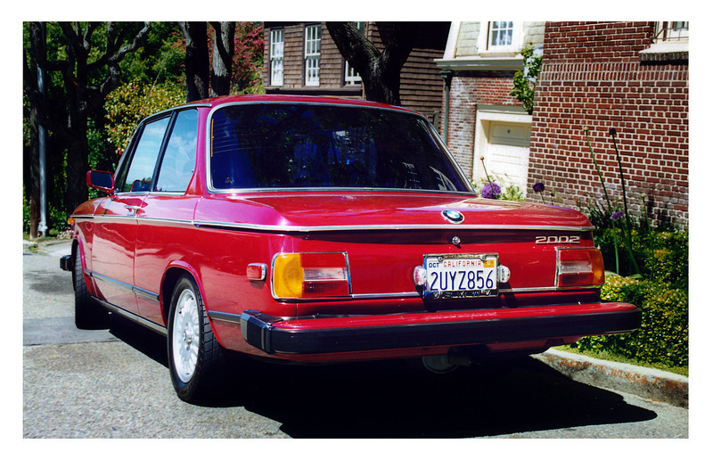 "Let me introduce you to a beautiful automobile: the 1976 BMW 2002. This one was born in Munich and spent all of it's operating life in California. From 1976 - 1995 in sunny dry San Jose and 1995 - 2002 in San Francisco then 2002 - 2005 in San Diego and finally garaged (and retired) in Boston since 2005.  see NADA used value report: http://bit.ly/G9RxC   Call me at 857 350 4651  I have all receipts from 1989 - 2010. Note: some 02s may look better but very few will give you the ride this one will. I quote my mechanic in San Diego (who worked on vintage BMWs for a living) ""I've never driven a 2002 that gave a better ride.""  So if you want a car of physical and historical distinction, have $7,500 to pay me and have a couple of grand in the bank to make this cherry bomb sparkle, please call."