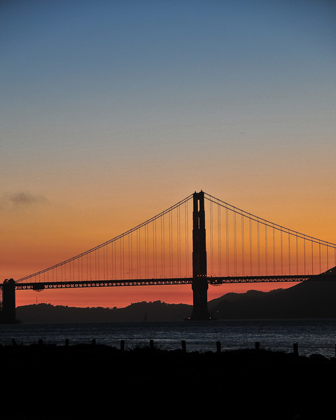 Golden Gate sunset from the park