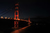 The Golden Gate at midnight