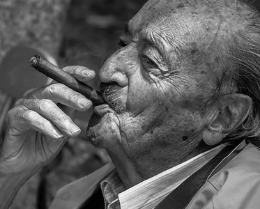 This a B&W of a color shot I took of Sergio the Photographer in Mexico City. The color photo is great and receives a lot of compliments. This B&W version next to the color says a lot about how great B&W photographs can be.