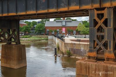 Historic Tredegar Iron Works - from pedestrian bridge