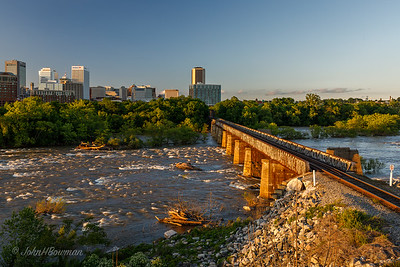 Richmond & James River from Flood Wall