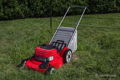 Lawn Mower in Children's Garden Area