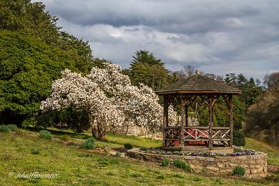 Rustic Gazebo, Italian Garden Beyond