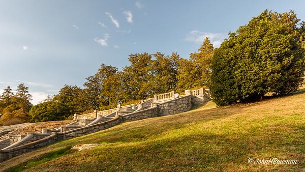 Stairs from Italian Garden toward Japanese Garden