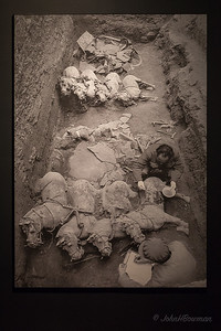 Museum Wall Photo of Terracotta Army Archaeologic Dig