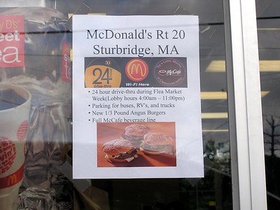 You can visit this McDonald's 24 hours a day during flea market week!