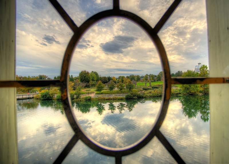 Window to the gardens
