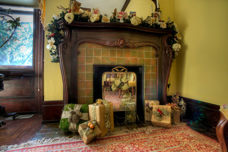 Fireplace in Bridal Room