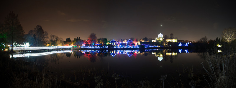 GardenFest of Lights, Crescent Moon over the Dome