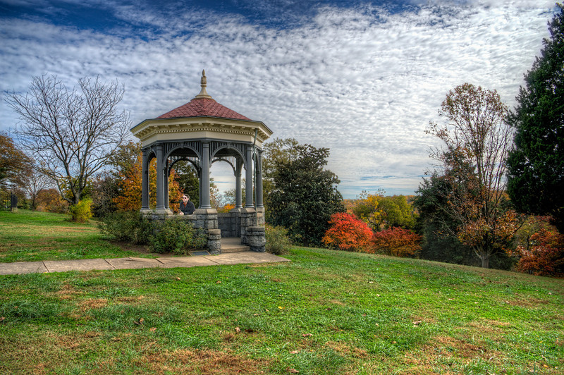 Red Roof Gazebo in the Fall
