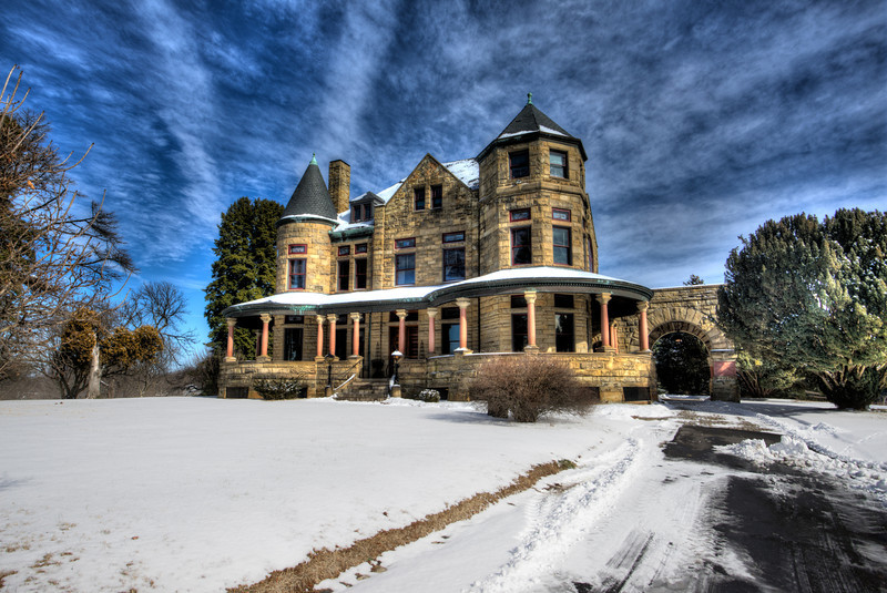 Maymont Mansion After Snowfall