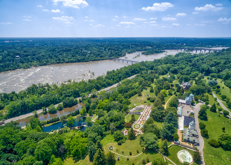 Aerial View of Maymont and the James River
