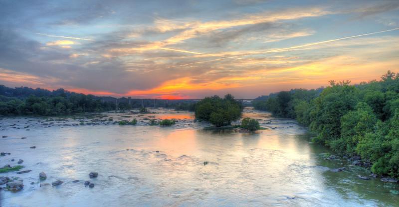 James River Sunset on Nickel Bridge