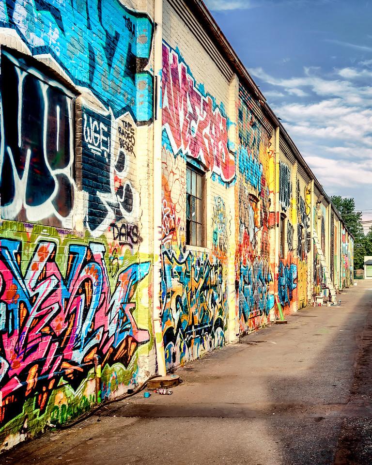 Graffiti Alley Diptych Left