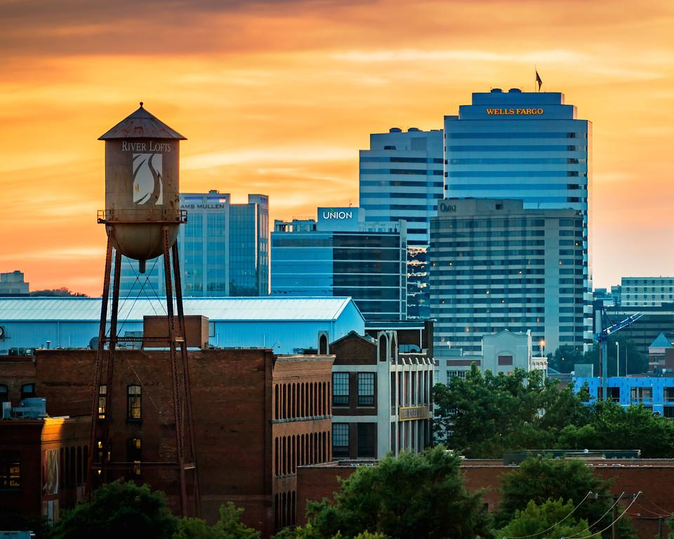 Tobacco Row and RVA Skyline