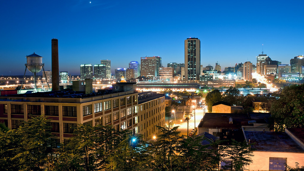 Richmond Skyline at Night