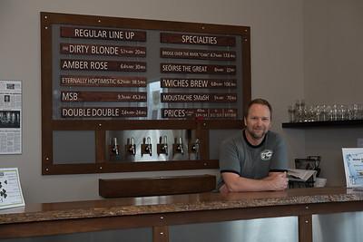 John Van Dyk, Covered Bridge Brewery (Kathy Van Dyk not pictured)