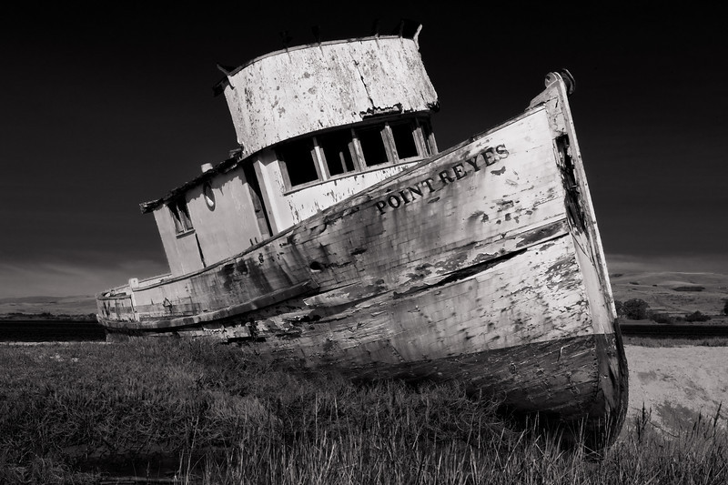 Beached Boat - Point Reyes, CA