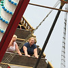 Rita and Chrissy on the Pirate Ship . . .  As you can tell, some liked it more than others.